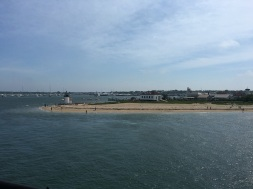 Brant Point Lighthouse on our way in - love this scene.